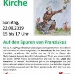 Kinder entdecken Kirche 2019 - Auf den Spuren von Franziskus