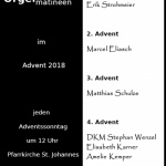 Orgelmatineen im Advent 2018