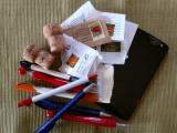 Korken, Briefmarken, Kugelschreibern und Handys
